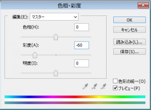 色相・彩度ウィンドウ